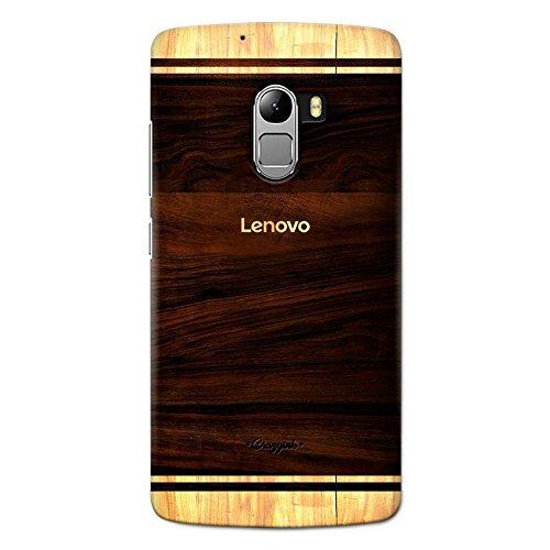 Crazyink Lenovo K4 Note Premium Stylish Printed Brand Logo Designer Hard Back Cover Case (Brown)