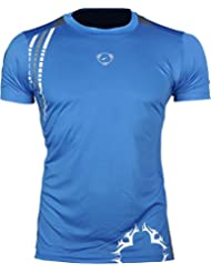 Jeansian Hombres Deportes Wicking Transpirable Quick-dry Manga Corta Camisetas Tee Tops Running Training LSL1052