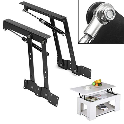 ASDJLK Scharnier 2PCS Lift Up Top Coffee Table Lifting Frame Mechanism Spring Hinge Hardware DIY Lift UP Spring Hinge