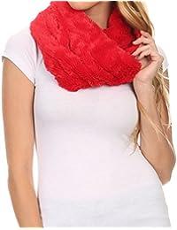 Sakkas Esla Long Wide Wrap Around Fuzzy Furry Fur Soft Comfortable Infinity Scarf