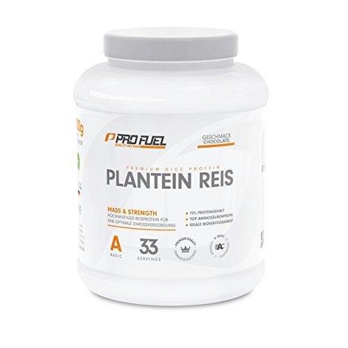 100% Vegetarisch Formel (Hochwertiges Reisprotein mit essentiellen Aminosäuren für Muskelaufbau & Abnehmen | Protein-Pulver, Eiweiß-Shake – pflanzlich, vegan, glutenfrei, laktosefrei | ProFuel Plantein Reis NEU - CHOCOLATE)