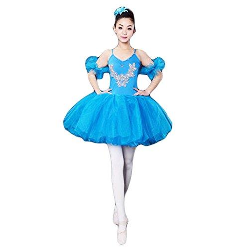 Kostüm Schwanensee Für Erwachsene - Black Temptation Erwachsene Ballett-Kleid/Sling Ballettrock/Schwanensee Kostüme, XL-Blau