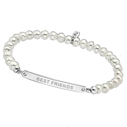 Imagen de pulsera plata de ley lotus perlas best friends lp1652 2/1