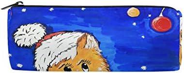 Trousse Supports de forme cylindrique de Noël Nuit Animal Chat Chat Chat Adorable chaton Winter Pen papeterie Pouch Sac avec fermeture à glissière Maquillage | Merveilleux  63cc80