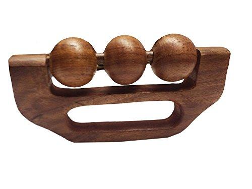 Conception de boule de massager de main en bois 3 avec la poignée, masseur de boule de roulement en bois, massager de corps, douleur, Massager de soulagement de contrainte 6 pouces, jour de Pâques / fête des mères / bon cadeau de vendredi