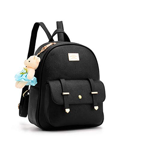 Best womens leather backpack in India 2020 Floki Women's Leather Backpack (Cream, Small) Image 2