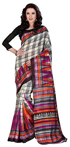 Chigy Whigy Multi Bhagalpuri Casual Wear Sarees