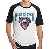 Johnson hop Puscifer-Design T-Shirt Fitness pour Hommes à Manches Courtes pour Hommes - Contraste(M,Noir)