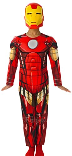 Zauberclown - Jungen Karnevalskomplettkostüm MARVEL Deluxe Iron Man, 134, (Deluxe Für Kostüme Kinder Man Ant)