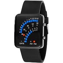 7f45b930e813 Wildlead LED reloj de pulsera electrónica Sector binario Digital Resistente  Al Agua Mode Unisex par de