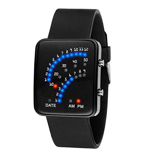 Wildlead LED Elektronische Armbanduhr Sektor Binär Digital Wasserdicht Mode Unisex Paar Uhren