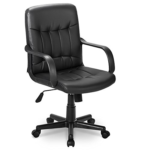 LIFE CARVER High Back Mesh Desk Swivel Chair for Home Office Task Chair Adjustable Height Executive Chair Recline Mesh Seat(Black) (PU)