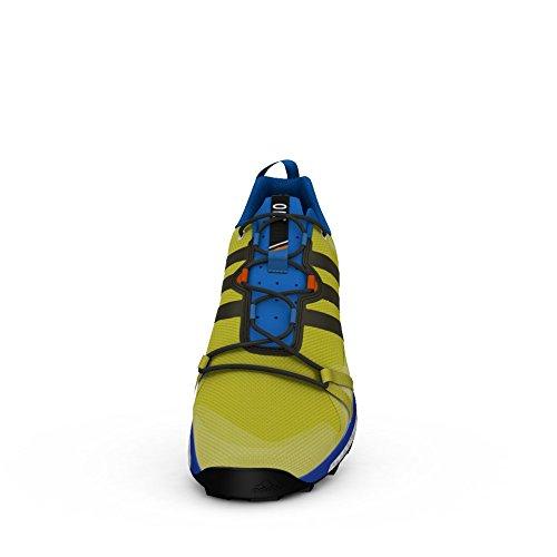 adidas Terrex Agravic Dark Grey Black Power Red bright yellow-core black-unity lime f16