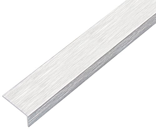 GAH-Alberts 489083 Winkelprofil - selbstklebend, Aluminium, edelstahldesign, hell, 1000 x 15 x 10 mm