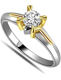 Surat Diamond 18k (750) Yellow Gold And Diamond Solitaire Ring - B01M5I1IDE
