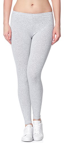 Ladeheid Damen Leggings Long LAMA02 (Melange12, 2XL/3XL (Herstellergröße: 44/46))