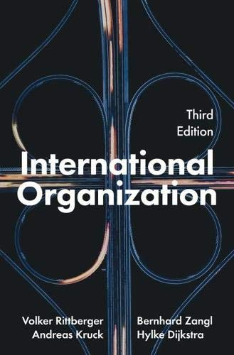International Organization por Volker Rittberger