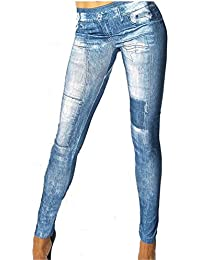 Jeans Look Leggings Jeans Destroyed Look Hose