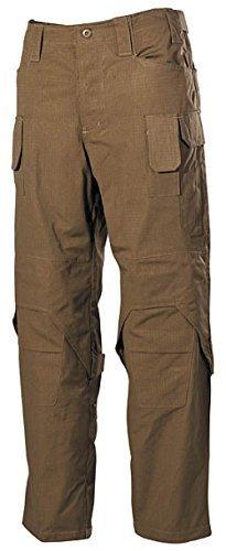 Bequeme Outdoorhose Einsatzhose Mission mit verstärkten Stellen und vielen Taschen Arbeitshose verschiedene Farben S-3XL (L, Coyote)