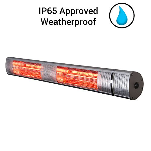 Charmant ... Futura Deluxe Wall Mounted Electric Infrared Outdoor Garden Patio,  Bathroom Heater 2500W, Waterproof, ...
