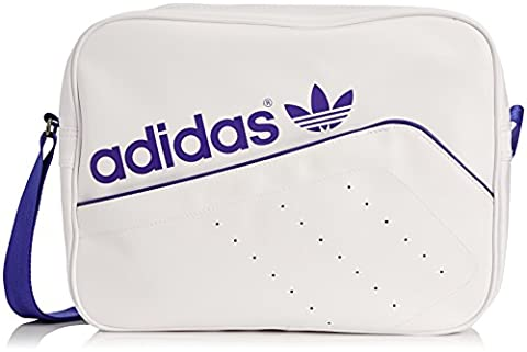 adidas Tasche Originals Airliner Perforated, White/Night Flash S15, 38 x