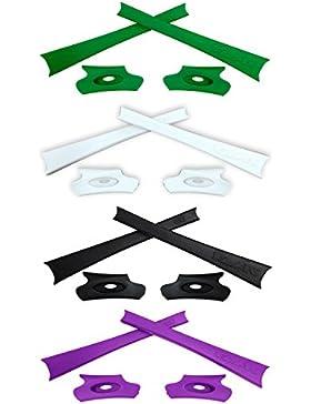 HKUCO Black/Green/White/Purple Replacement Rubber Kit For Oakley Flak Jacket /Flak Jacket XLJ Sunglass Earsocks