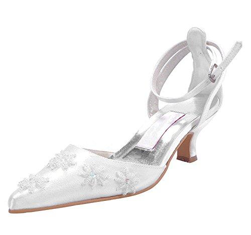 Kevin Fashion ,  Damen Modische Hochzeitsschuhe elfenbeinfarben