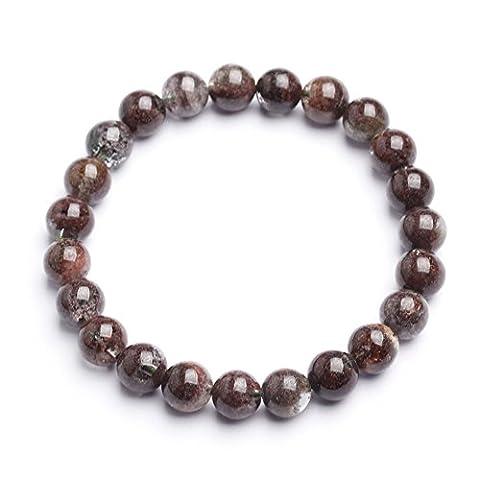Unisex Kristall Elastisch Buddha Armband Chakra Armband Yoga Armband Perlen Armband 6 mm