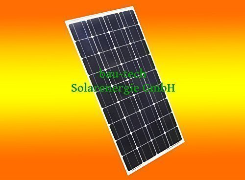 1 Stück 100 Watt Solarmodul Solarpanel Photovoltaik Solarzelle monokristallin von bau-tech Solarenergie GmbH