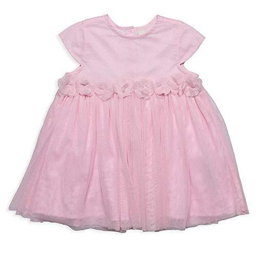 ESPRIT KIDS Baby-Mädchen Woven Dress EAS Kleid, Rosa (Blush 310), (Herstellergröße: 92)