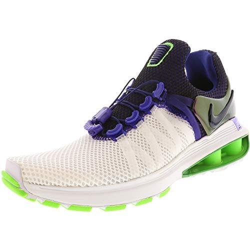 NIKE Women's Shox Gravity Running Shoes-White/Fusion Violet-9 (Shox Womens Shoes)
