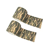 JMcall 2Pc Outdoor Hunting Waterproof Camping Camouflage Stealth Duct Tap(Color:Multicolor & Material:cloth)