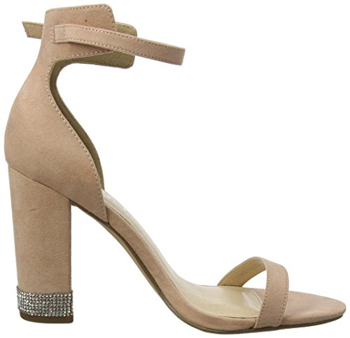 Unbekannt Damen Hip Peeptoe Pumps Pink (Peach Crystal)