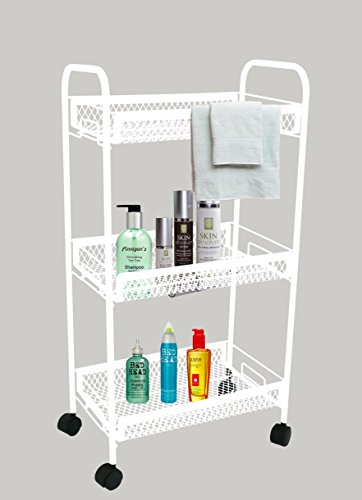 Magna-Antique-Look-Home-Storage-Trolley-White-With-Warranty-Complete-Home-Storage-Solution