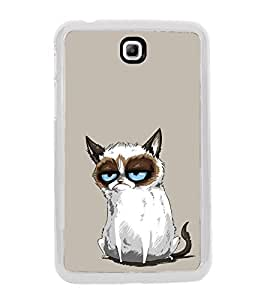 Grumpy Cat 2D Hard Polycarbonate Designer Back Case Cover for Samsung Galaxy Tab 3 8.0 Wi-Fi T311/T315, Samsung Galaxy Tab 3 8.0 3G, Samsung Galaxy Tab 3 8.0 LTE