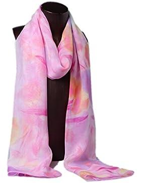 Prettystern HL760 - 180cm X55cm 100% Bufanda de seda de gasa de seda - Fantasía de la primavera - disponible en...