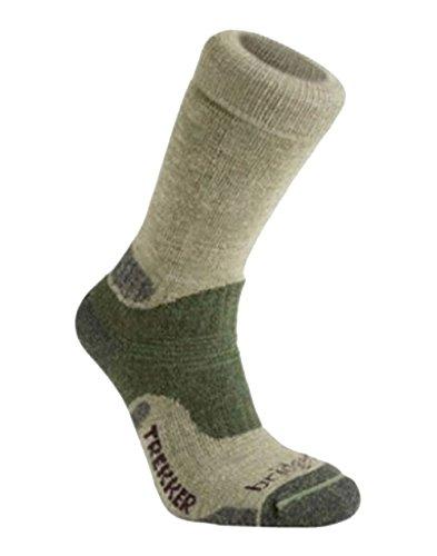 Bridgedale Herren Woolfusion® Trekker Socken, Braun, M (Bridgedale Socke Trekker)