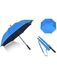 Paraguas Paraguas Masculino y Femenino de asa Larga con Doble protección Solar a Prueba de Viento