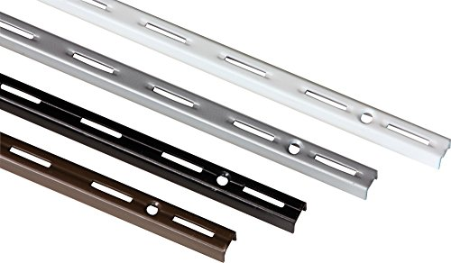 IB-Style - 2x Wandschiene single | Einreihiges System mit 50 mm Raster | 5 Abmessungen | Länge 1,5 m WEISS | Wanndleiste aus Stahl für Regalsysteme -