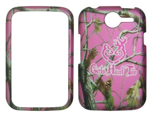 Att Lg Handys (2D Pink Camo Mädchen HUNT Pantech Renue P6030AT & T Fall Hard Handy Snap auf Cover Fällen Displayschutzfolie Blenden)