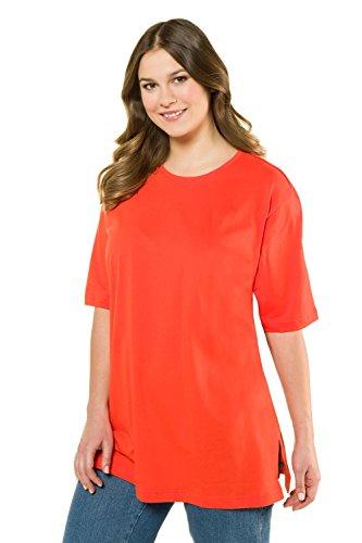 Ulla Popken Große Größen Damen T-Shirt, Rundhals, Rot (Rot 51), 46/48 (Herstellergröße:46)