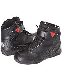 Modeka Calzado de Protección de Cuero Para Hombre Negro Negro 43 EU