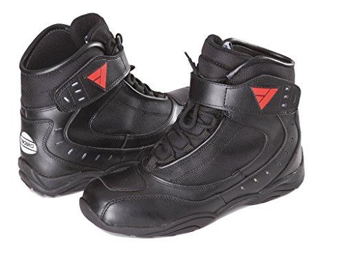 Preisvergleich Produktbild Modeka LE Mans Motorradstiefel Leder - Schwarz Größe 42