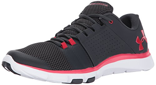 Under Armour Ua Strive 7, Zapatillas Deportivas para Interior Hombre, Negro (Anthracite), 44 EU