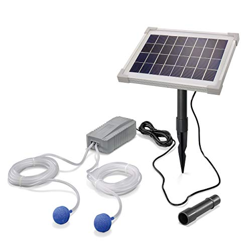 Solar Teichbelüfter Professional - 5W Solarmodul 200 l/h Luft - extragroßes Solarmodul für beste Funktion - Gartenteich Belüftung Sauerstoffpumpe Teich Luftpumpe Teichpumpe esotec pro 101844