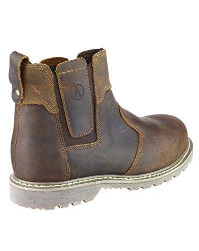 Amblers Safety–fs165–Stivali di sicurezza–Uomo–marrone–Protezione dita–EU/UK Brown