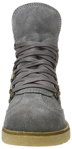 Bianco Damen Warme Wanderboots Combat Boots Grau (grigio)