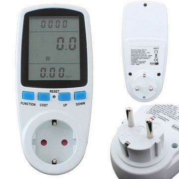 Souked Energy Meter Watt Volt Voltage Electricity Monitor