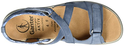 Ganter Aktiv Fabia Sandale-f, Sandales  Bout ouvert femme Bleu jean
