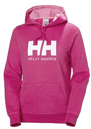 Helly Hansen Damen W Hh Logo Hoodie Kapuzenpullover, Pink (Rosa 181), X-Large Drawstring Jersey Sweatshirt